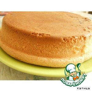 бисквит рецепт фото